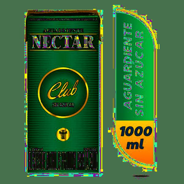 Aguardiente Nectar Club Tetra 1000 Ml