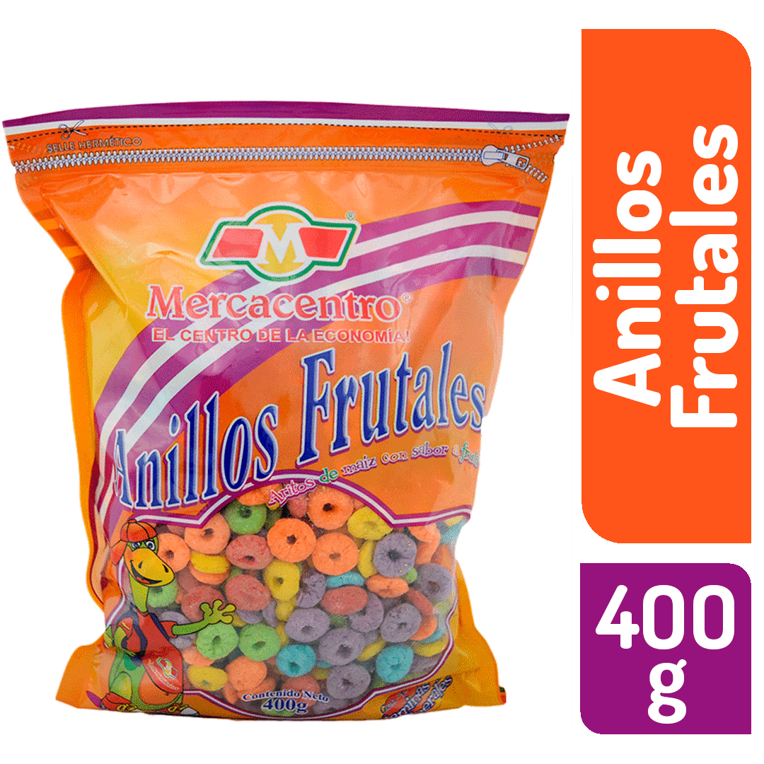 Cereal Mercacentro Anillos Frutales 400 G