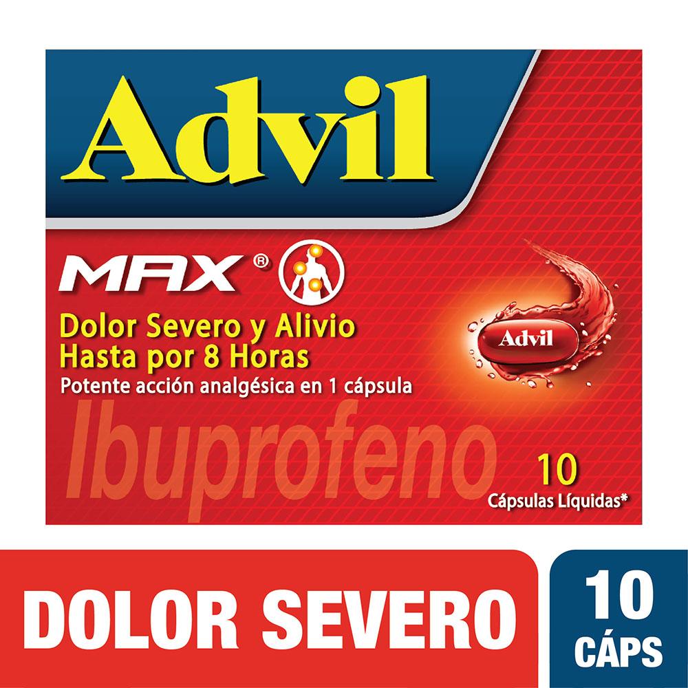 Advil Max Cap. Líquidas 10 Und