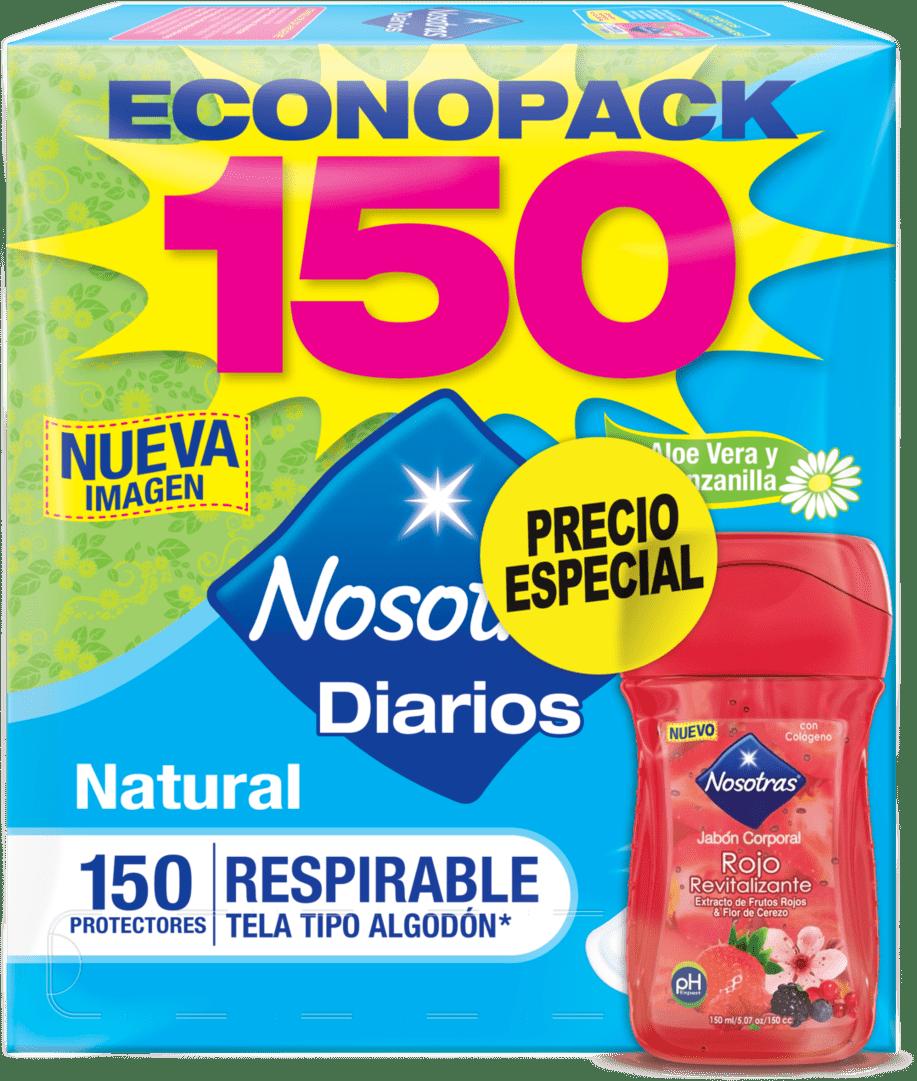 Protector Nosotras Diarios Respirable  X 150 + Jabón Corp