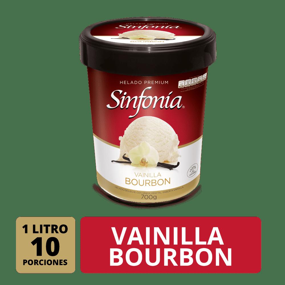 Helado Crem Helado Sinfonia Vainilla Bourbon 1 Litro/700 G