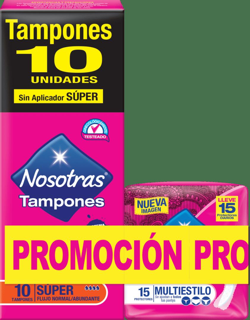 Tampon Nosotros Digital Súper X 10+15 Protect. Multiestilo