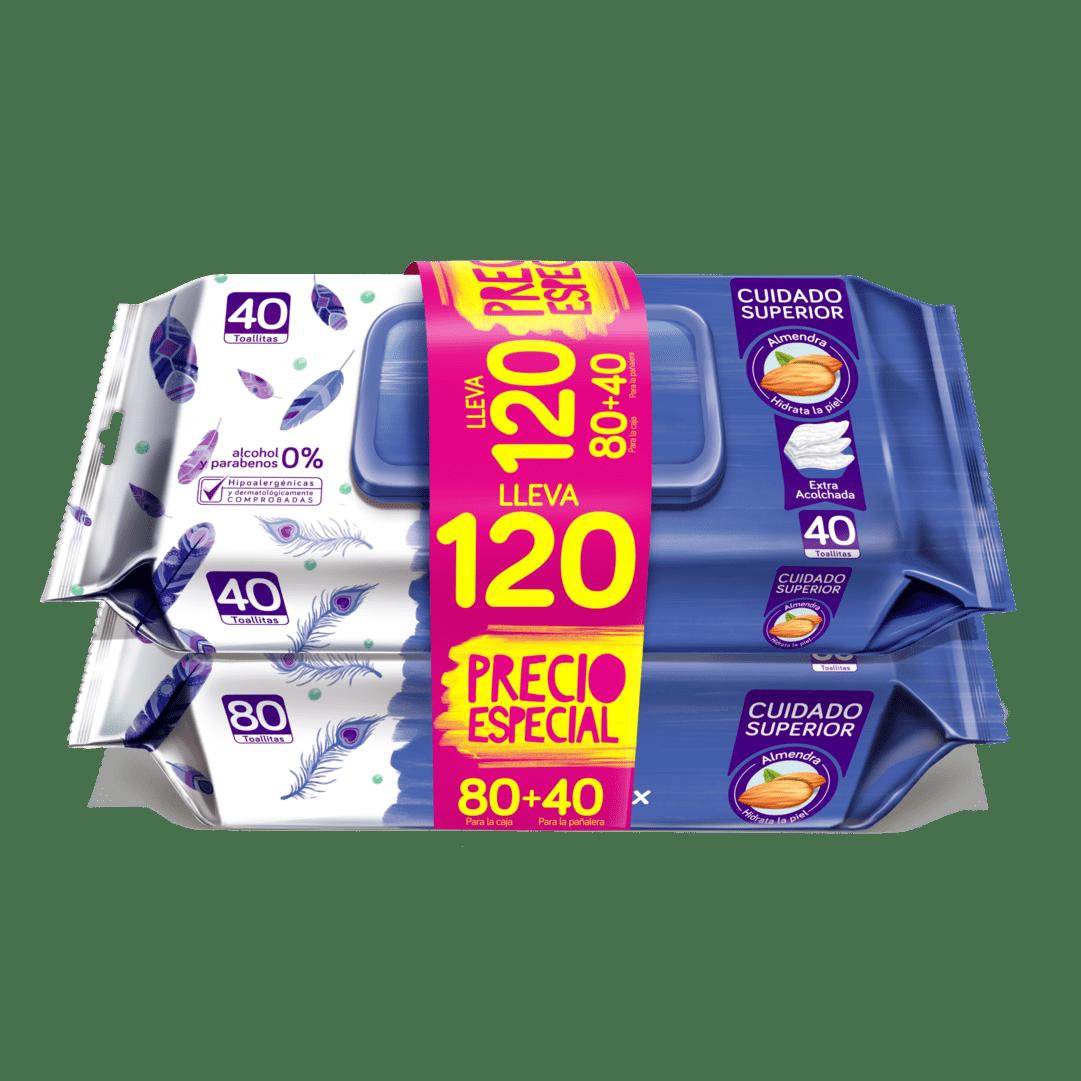 Toallitas Pequeñin Acolchamax 80+40 Precio Especial 120 Und