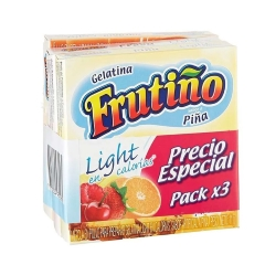 Gelatina Frutiño Light 3X11 G Surtida