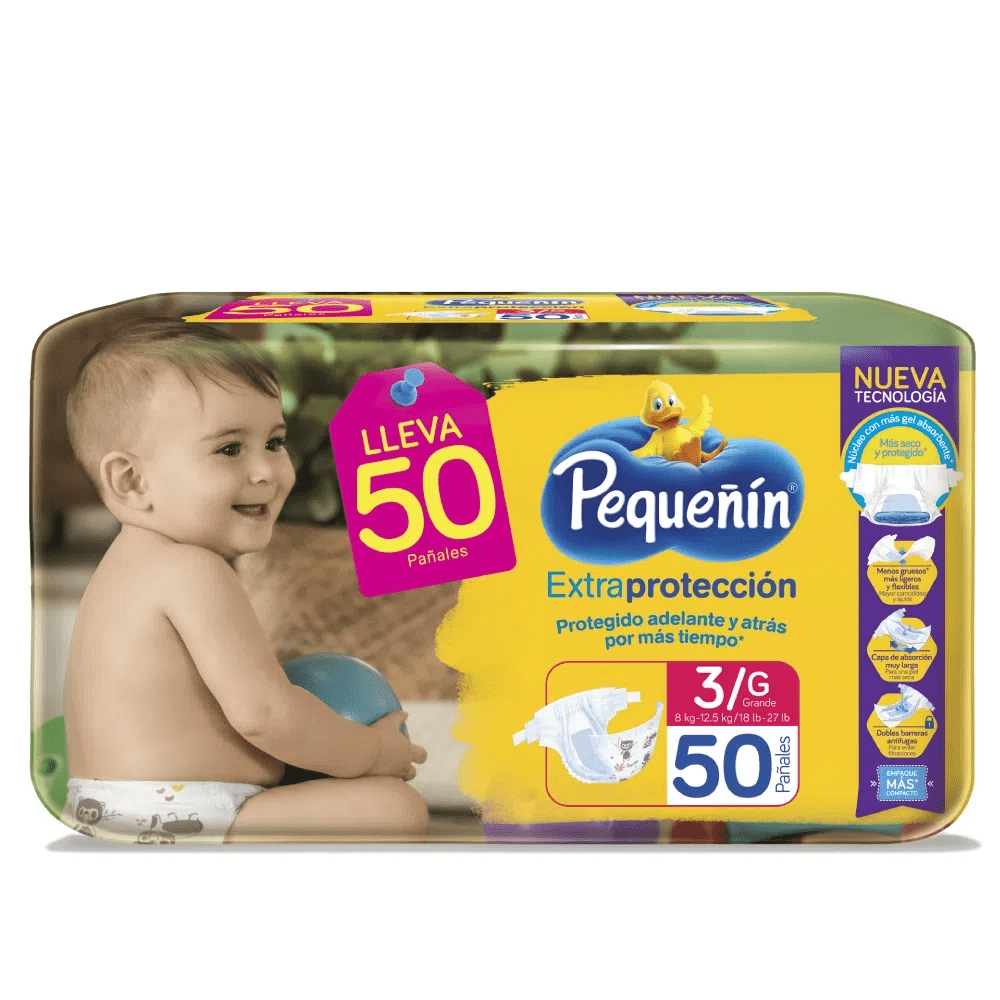 Pañal Pequeñín Extrac Cintas Et 3 X 50 Und
