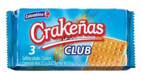 Galleta Crakeñas X6 Und Club 204 G