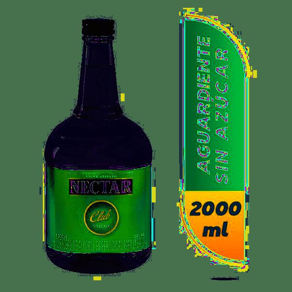 Aguardiente Nectar Club Garrafa 2000Ml