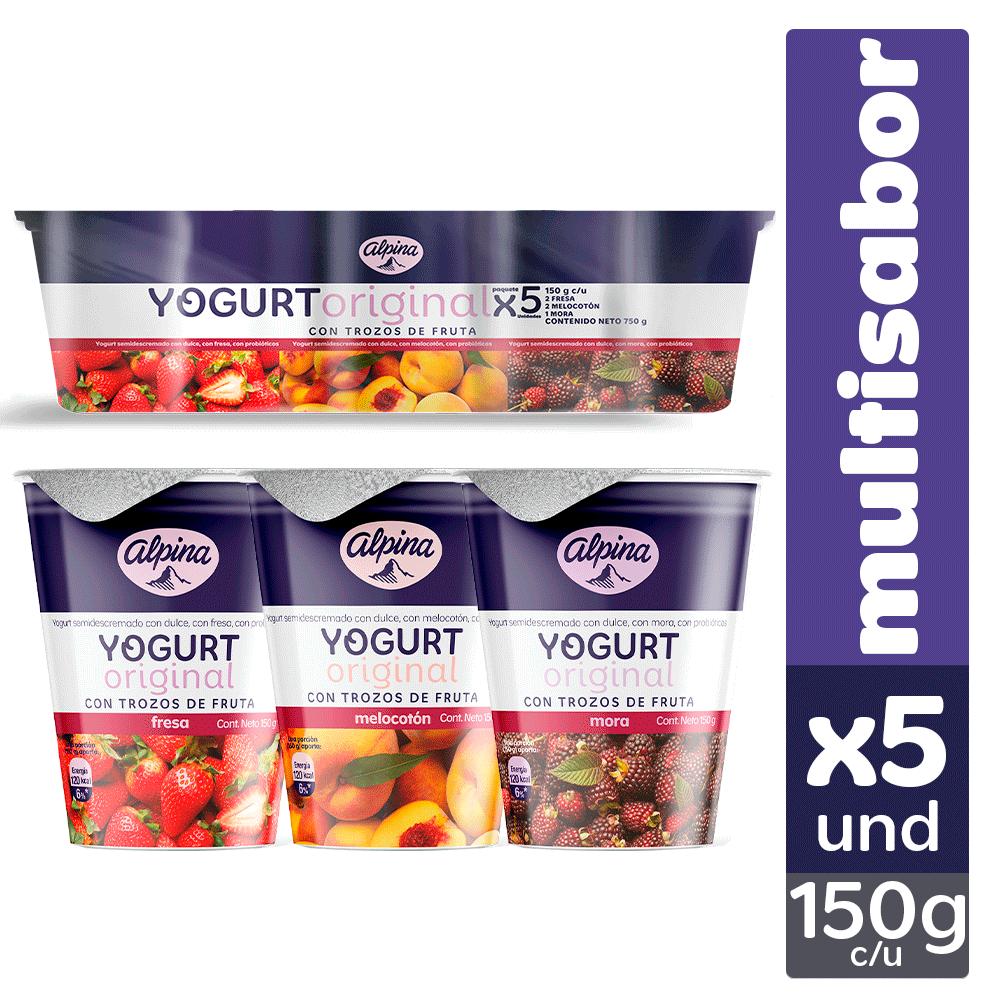 Multiempaque X5 Und Yogurt Original Vaso 150G