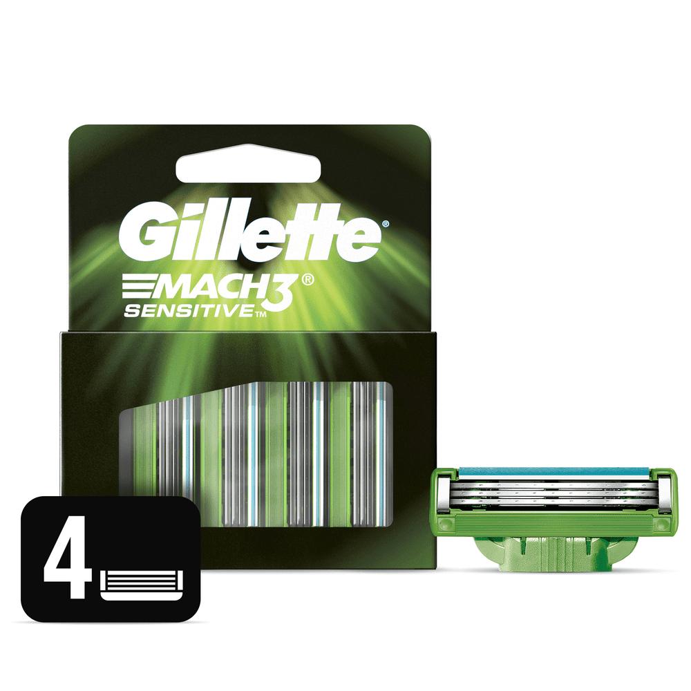 Repuesto Máquina Gillette Mach3 Sensitive X 4 Und