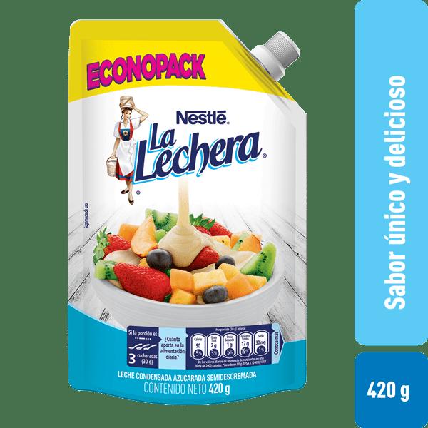 Leche Condensada La Lechera Doypack 420G