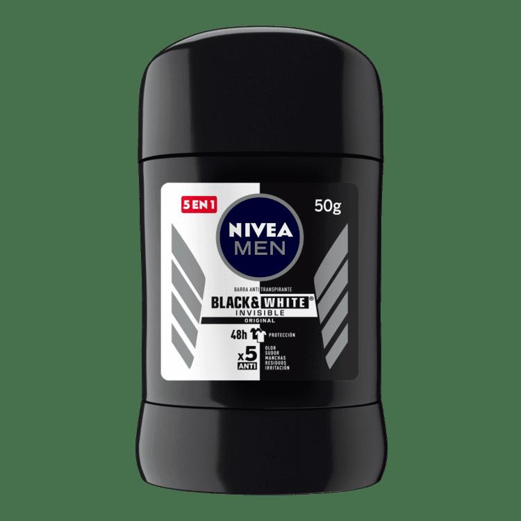Desodorante Nivea Barra Men Black-White 50 G