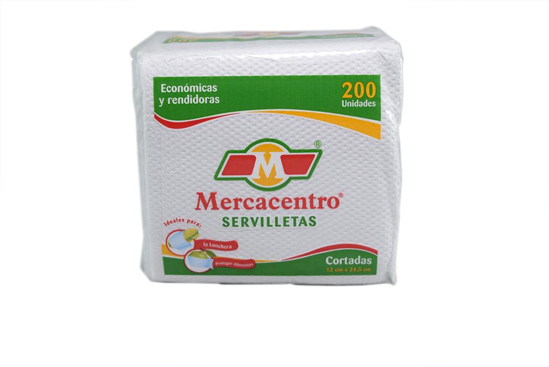 Servilleta Mercacentro Cortada 200 Und