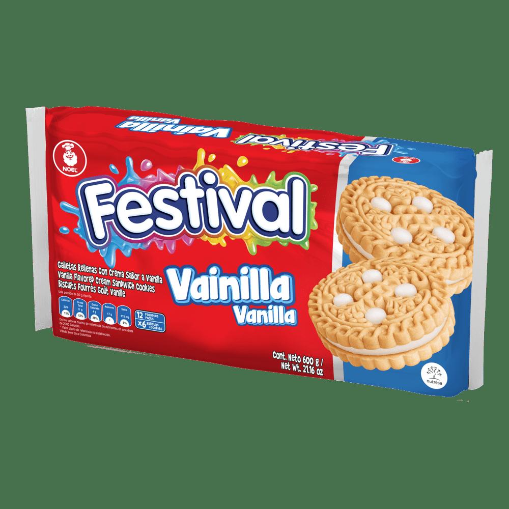Galleta Festival Vainilla X 12 Paq / 600 G