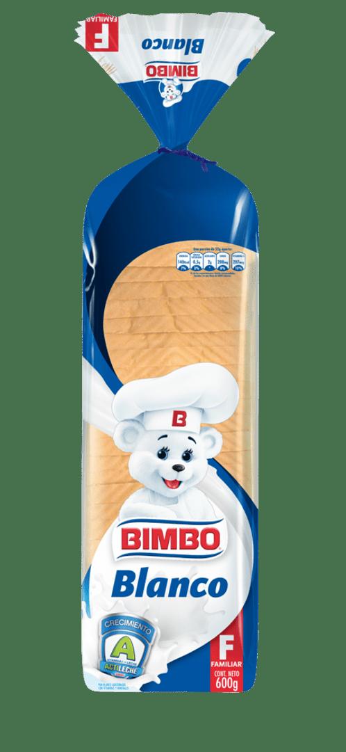Pan Bimbo Blanco Familiar 600 G