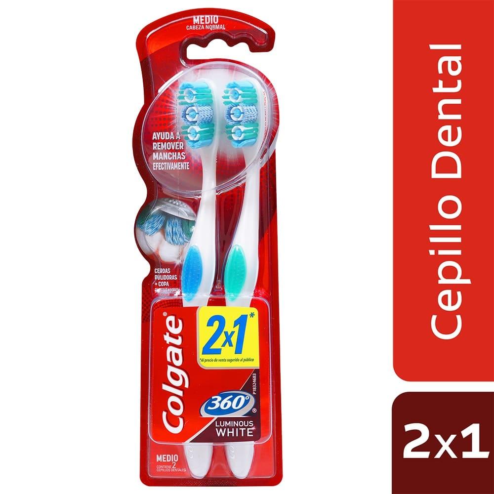 Cepillo Colgate 360 2X1 Luminous White 1 Und