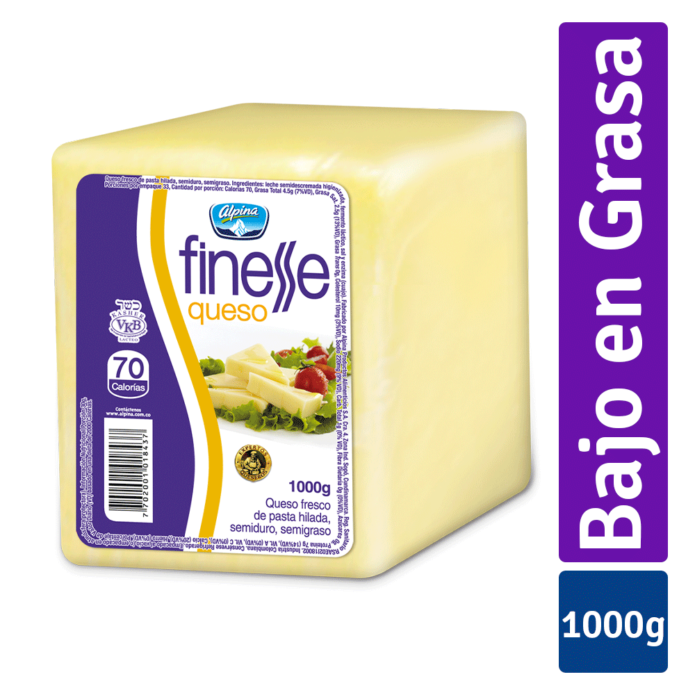 Queso Finesse Bloque 1Kg