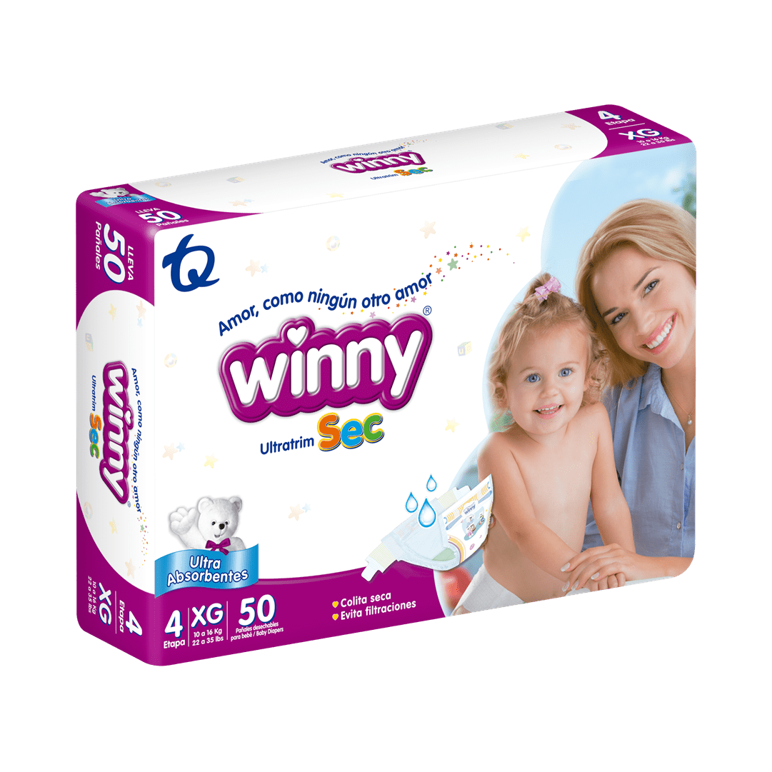 Pañal Winny Ultratrim Sec Etapa 4 50 Und