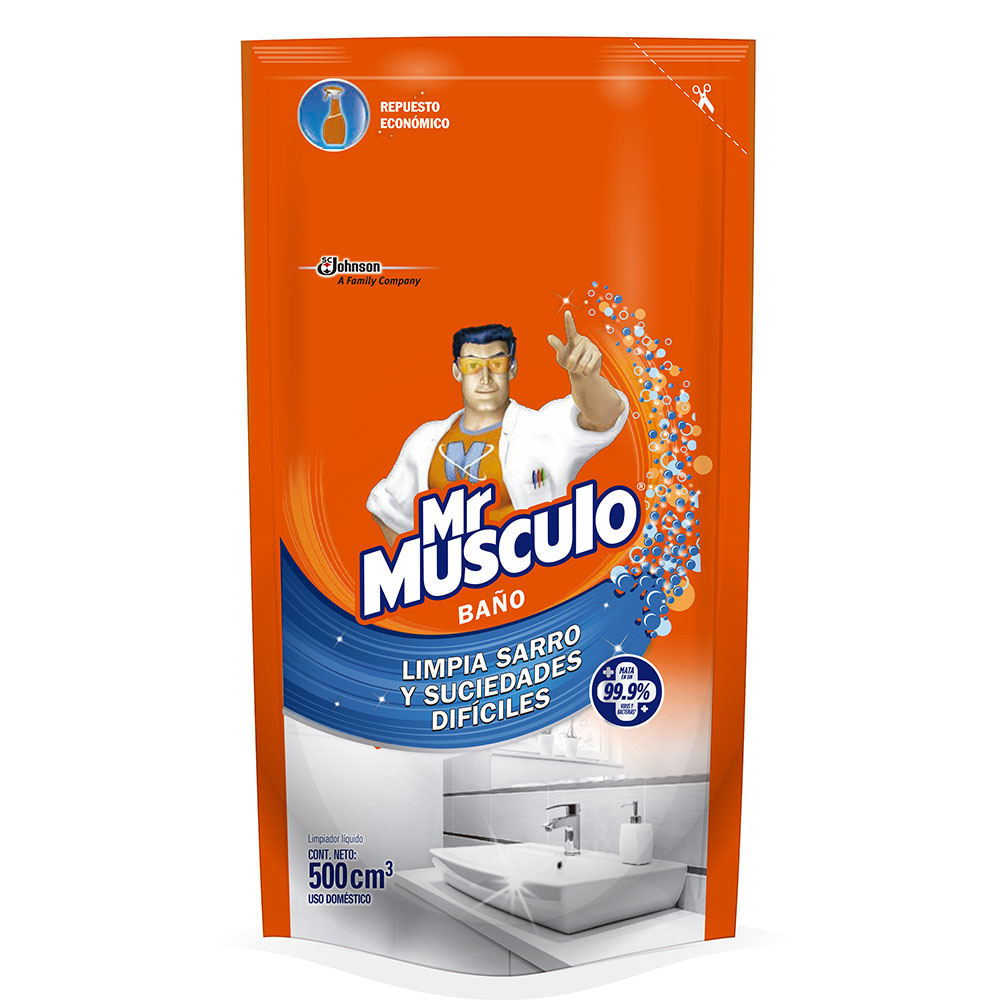 Mr Musculo Baño Repuesto 500 Cm3