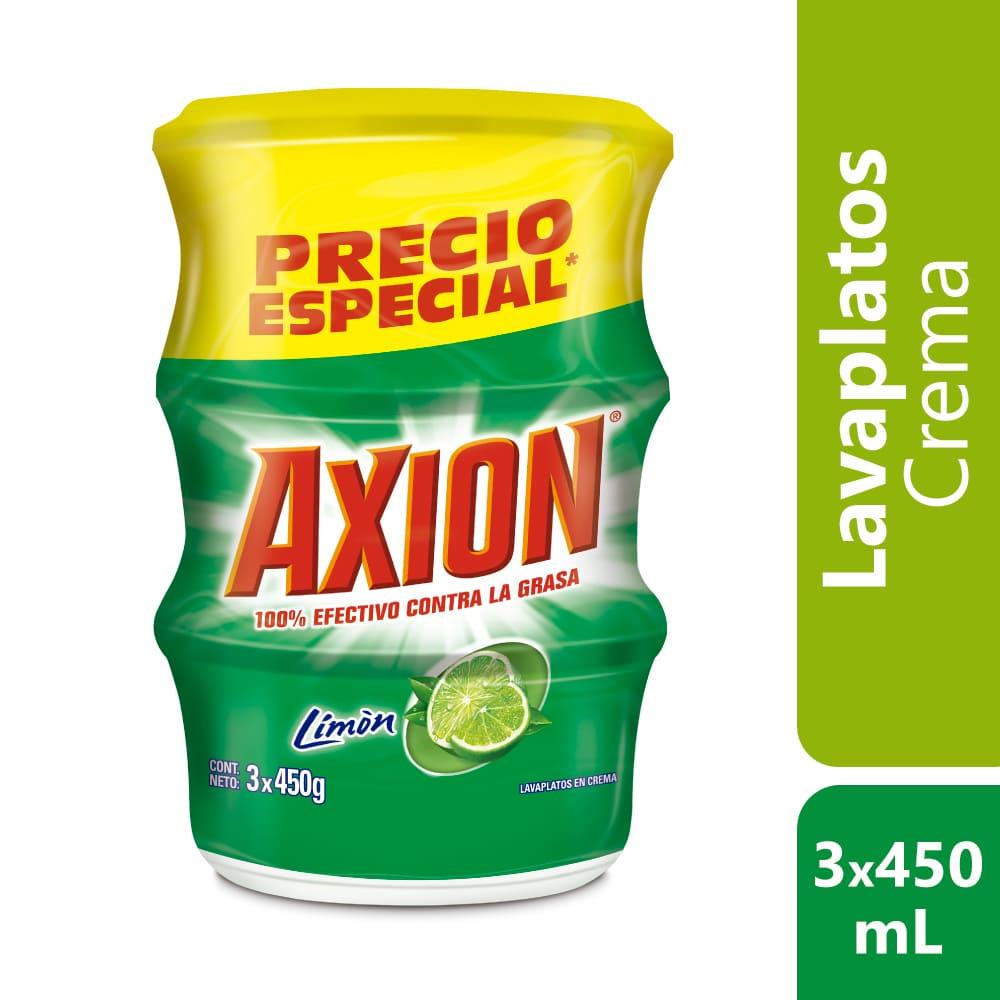Lavaplatos Axión Limón Crema 3X450 G $Esp