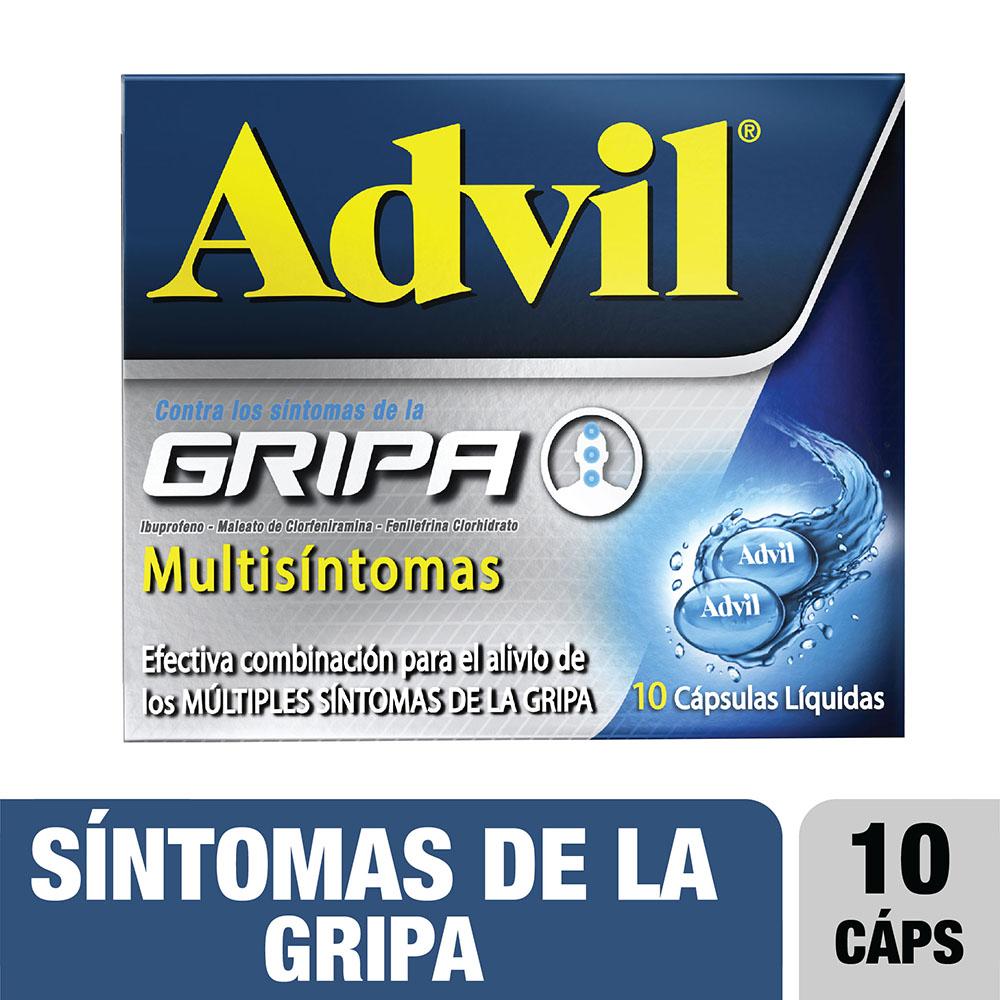 Advil Gripa Multisintomas 10 Cápsulas