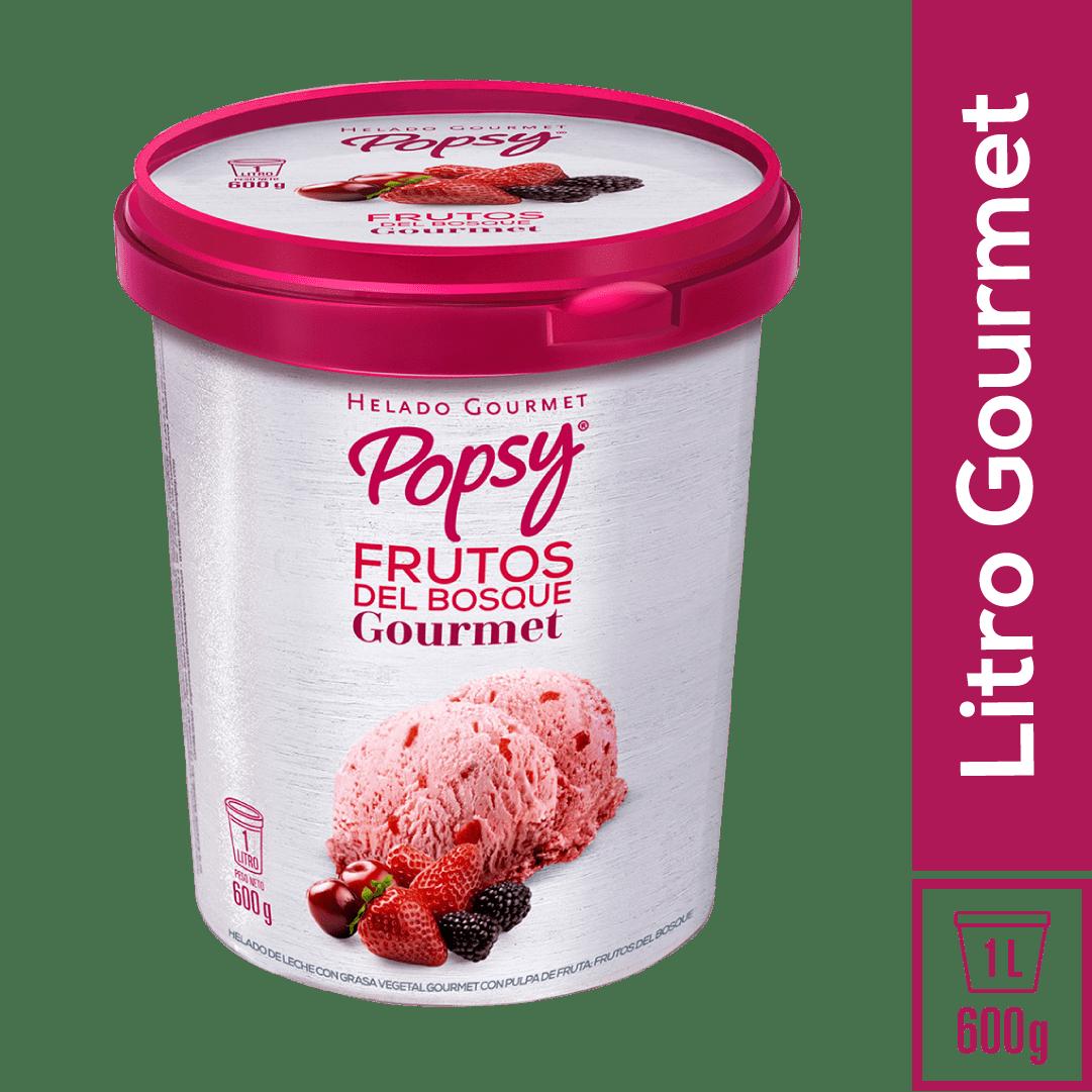 Helado Popsy Gourmet Frutos Del Bosque 1 Litro/600 G