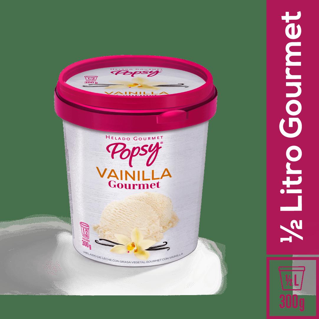 Helado Popsy Gourmet Vainilla 1/2 Litro/300 G