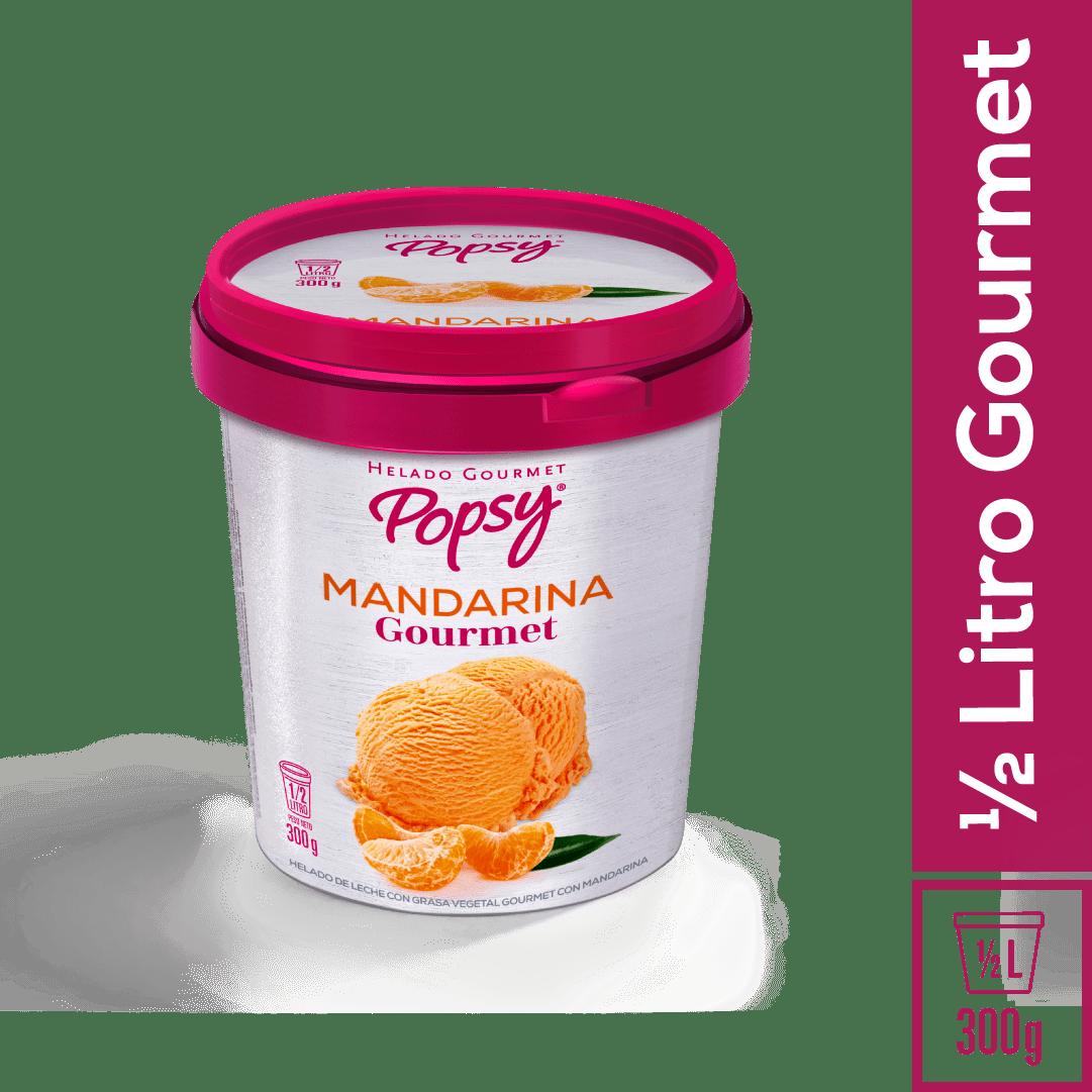 Helado Popsy Gourmet Mandarina 1/2 Litro/300 G