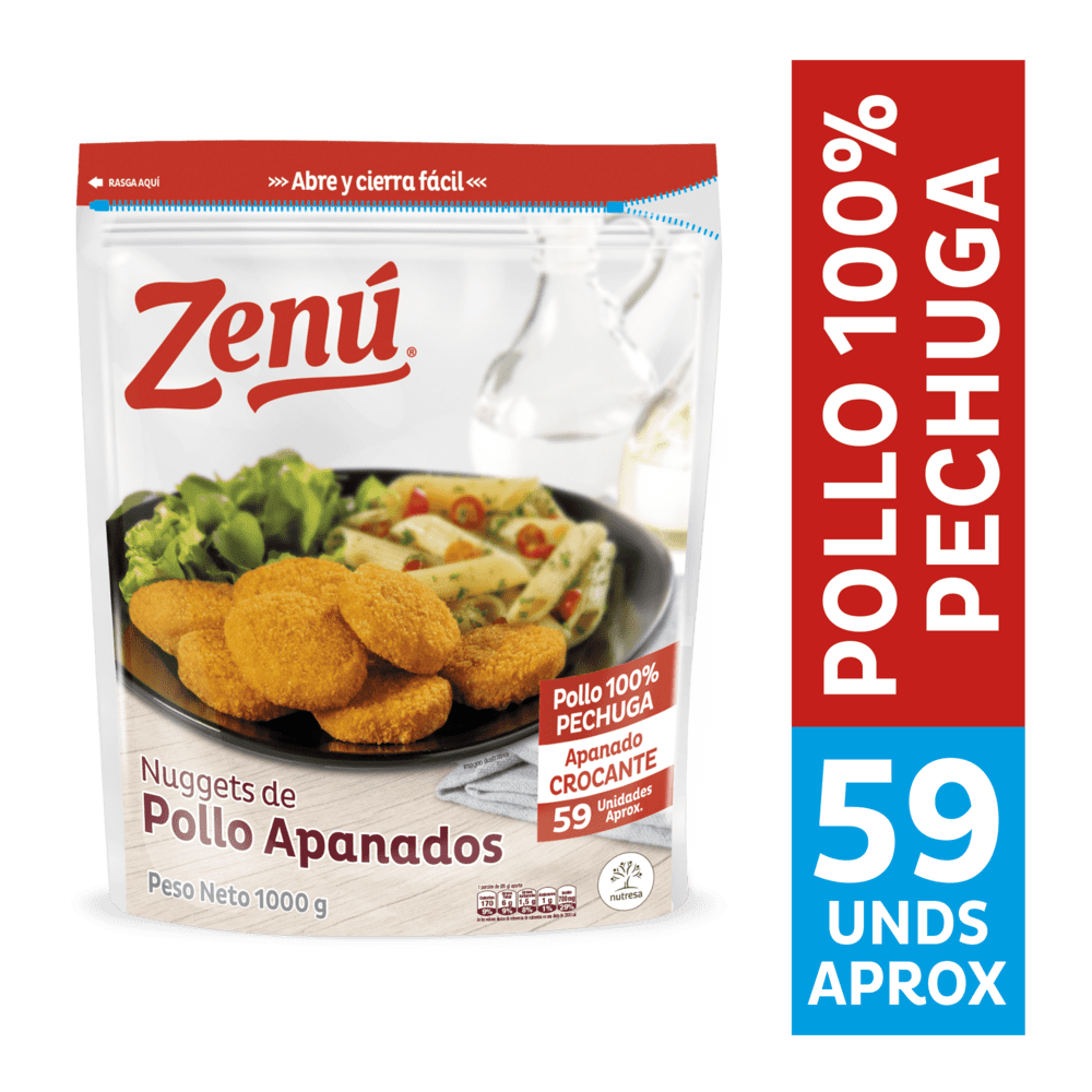 Nuggets Zenú Pollo Apanado 1000 G