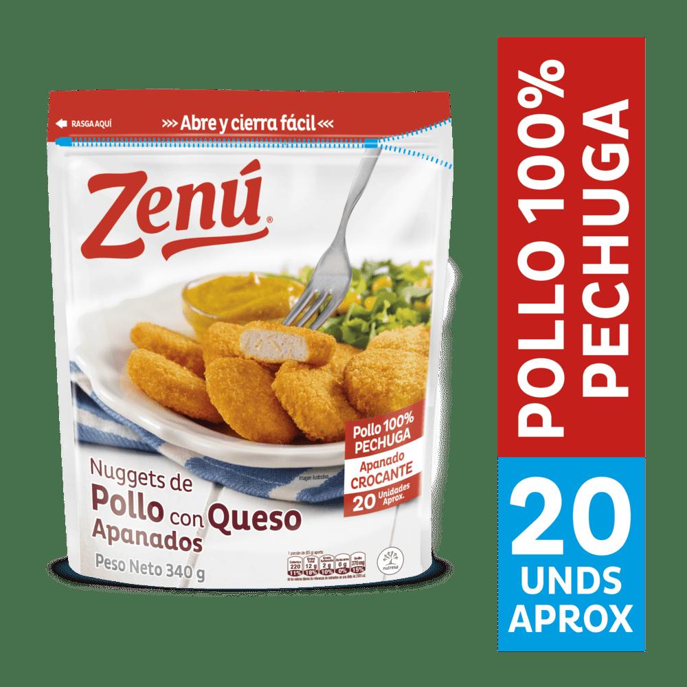 Nuggets Zenú Apanado Pollo Queso 340 G