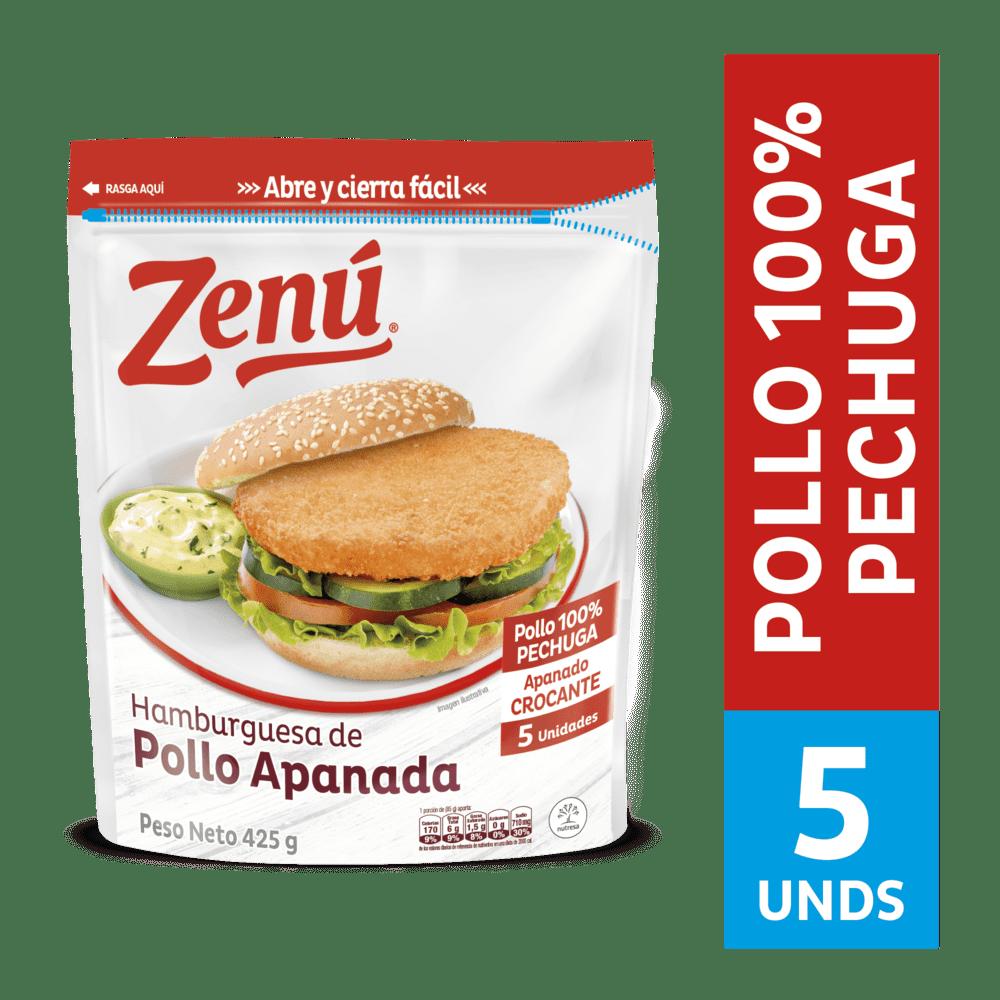 Hamburguesa Zenú Pollo Apanado 425 G