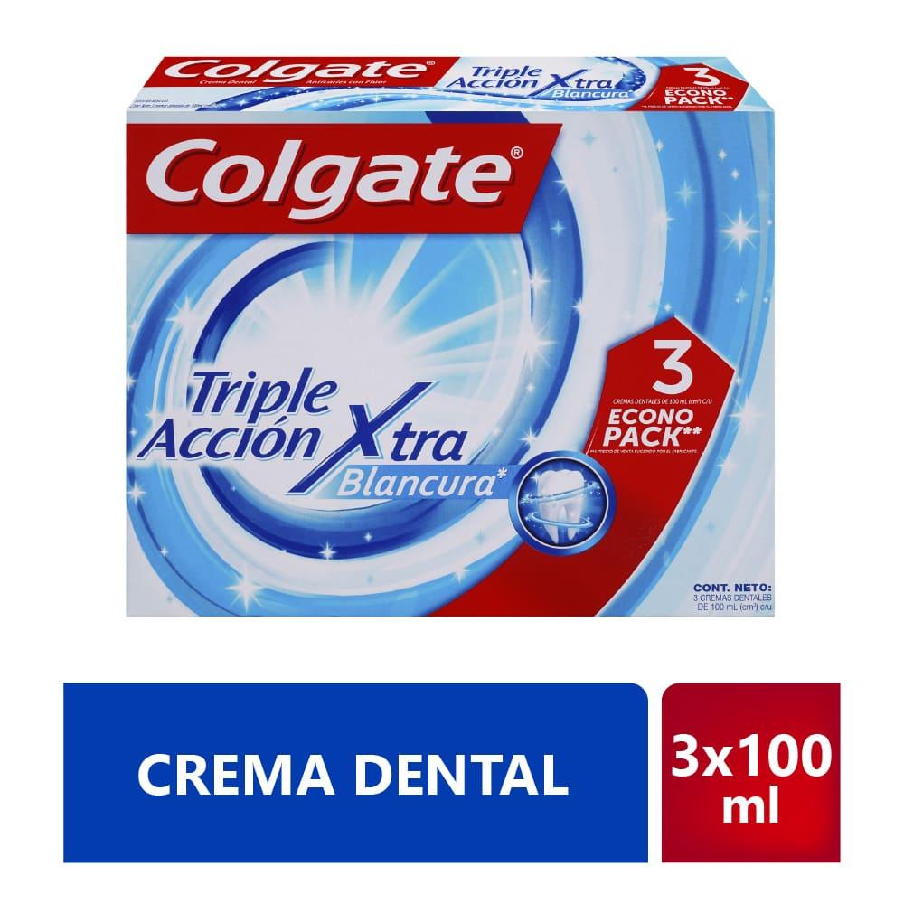 Crema Colgate 3X100 Ml Triple Acción Extrema Blancura