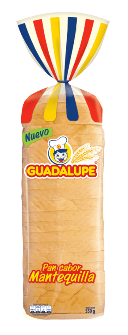 Pan Guadalupe Extralargo Mantequilla 550 G
