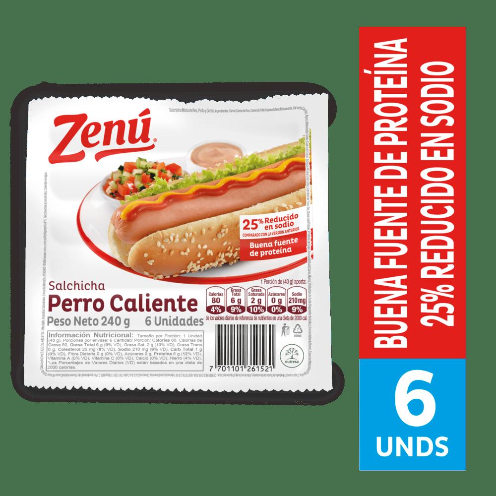 Salchicha Zenú Perro Caliente 240 G