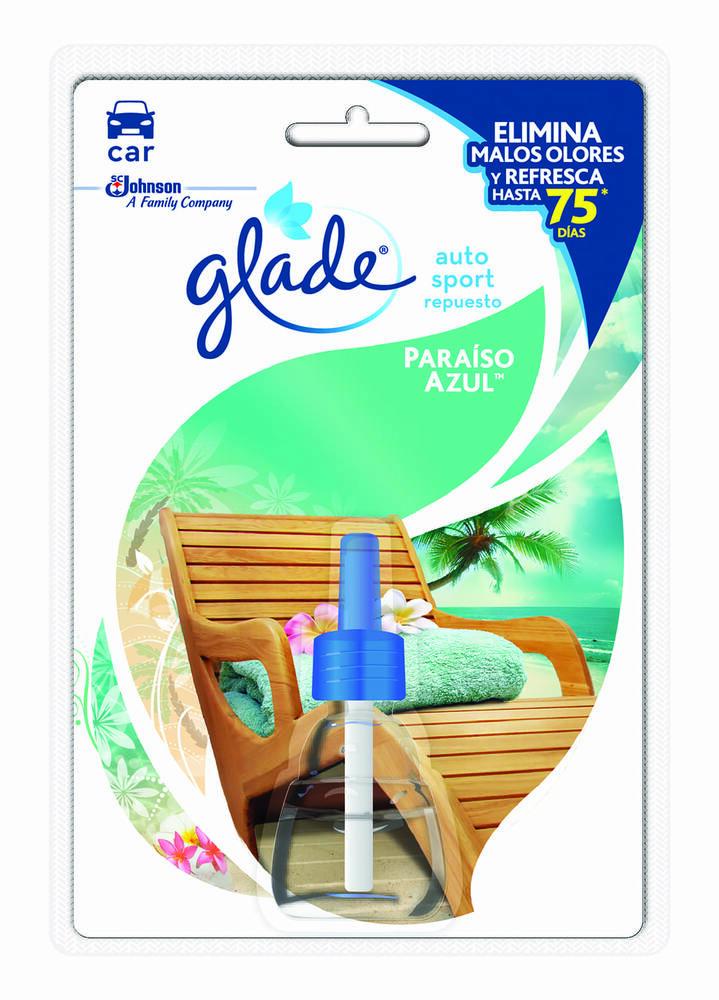 Ambientador Glade Autosport Paraiso Azul Repuesto