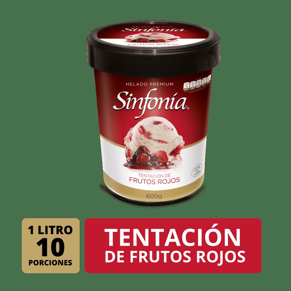 Helado Crem Helado Sinfonia Frutos Rojos 1 Litro/600 G