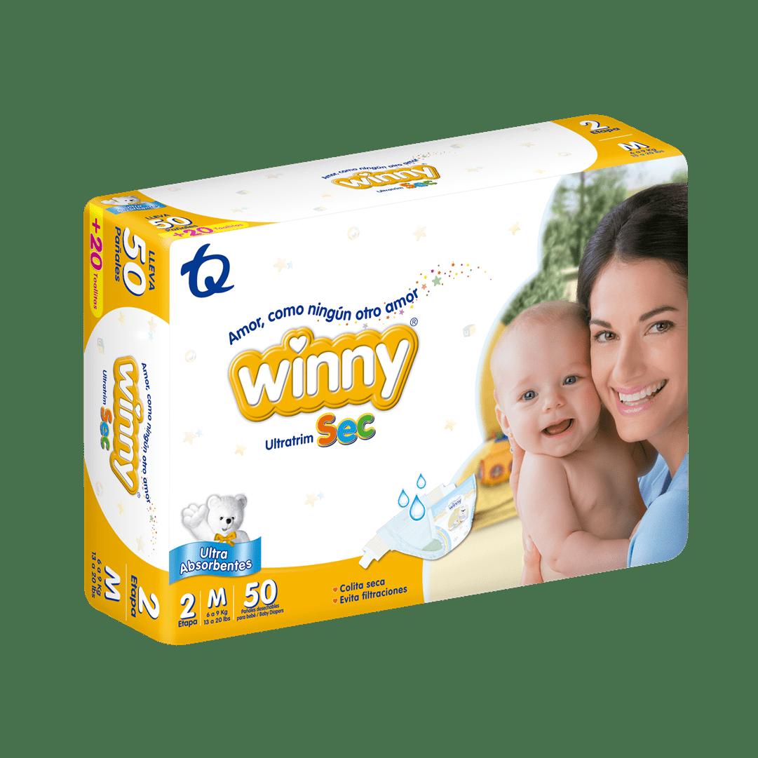 Pañal Winny Ultratrim Sec Etapa 2 X 50 Und Gratis 20 Toallas