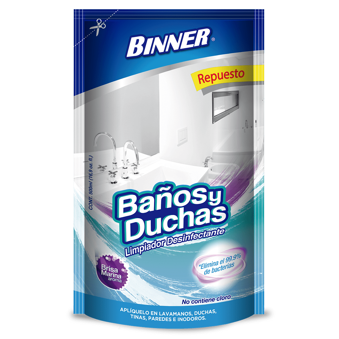 Binner Limpiador Desinfectante Baños Duchas Repuesto 500 Ml