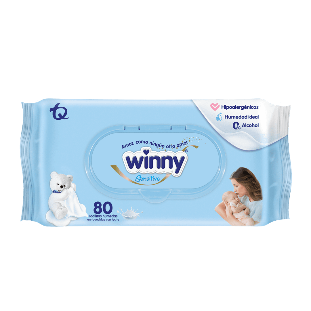 Toallitas Winny ReciN Nacido 80 Und