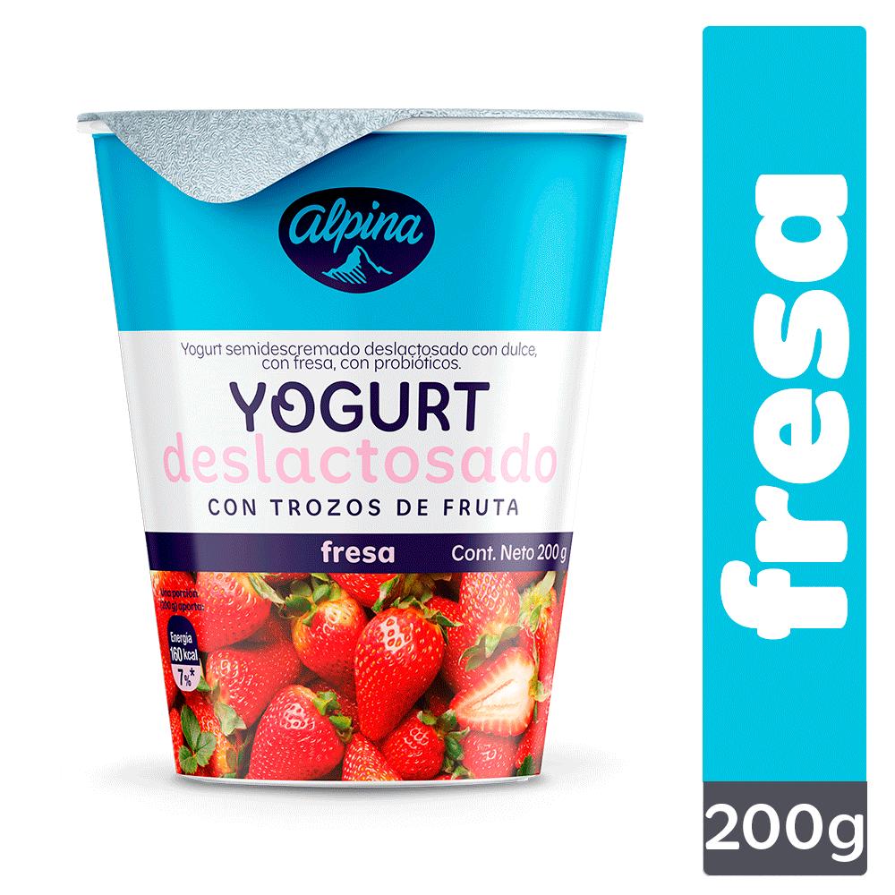 Yogurt Deslactosado Fresa Vaso 200G