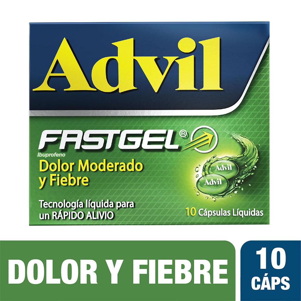 Advil Fast Gel 10 Cápsulas