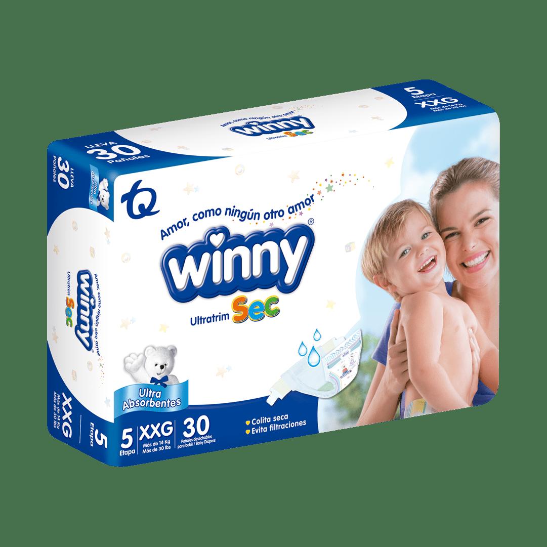 Pañal Winny Ultratrim Sec Etapa 5 30 Und