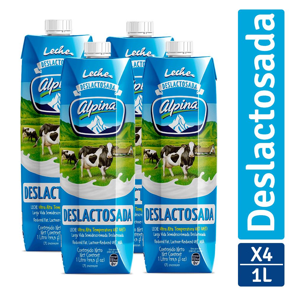 Leche Alpina Tetra Deslactosada 4X1000 Ml