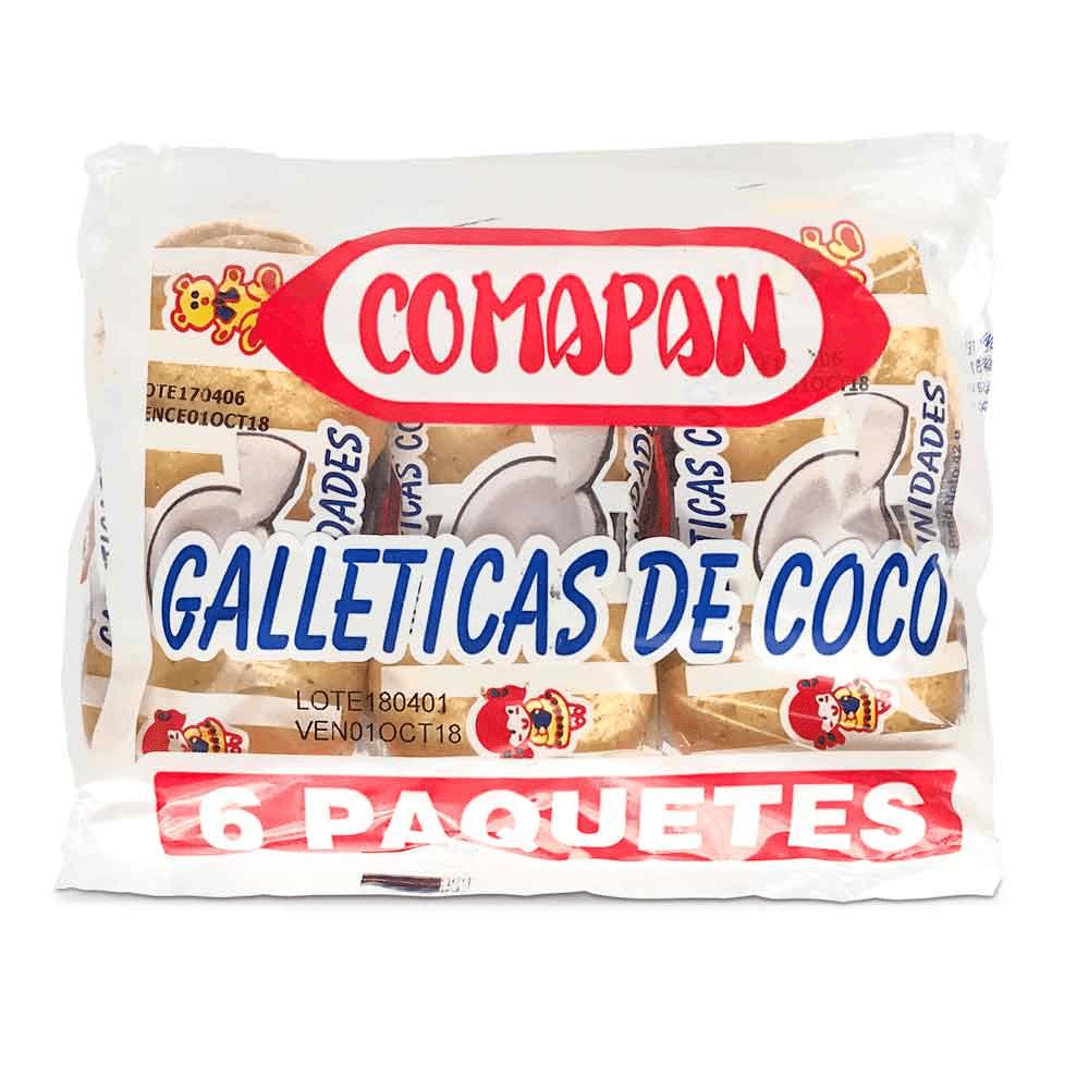 Galleta Comapan Coco 6 Paq X 42 G