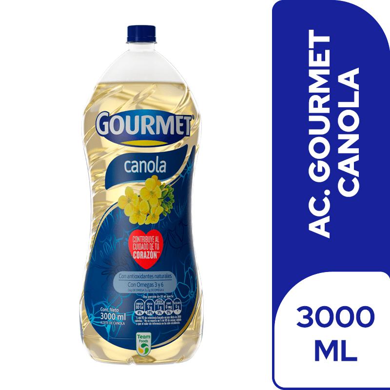 Aceite Gourmet Canola 3000 Ml