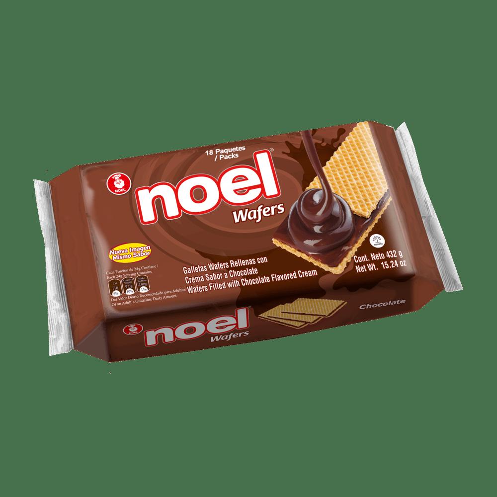 Galletas Wafers Noel X 16 Paq Chocolate 432 G