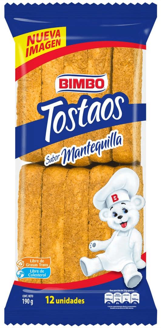 Tostaos Bimbo Mantequilla X12 Und 190 G