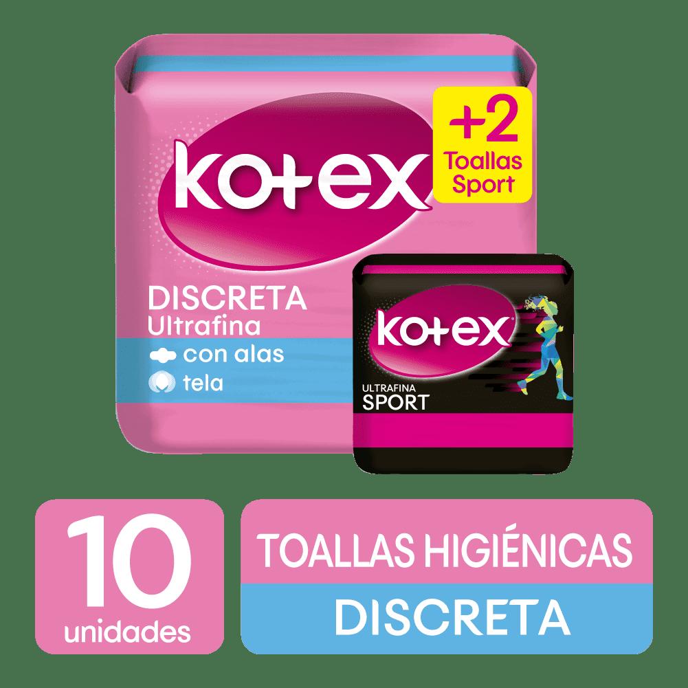 Toallas HigiNicas Kotex Ultrafina Tela 10 Und + 2 Kotex Spo