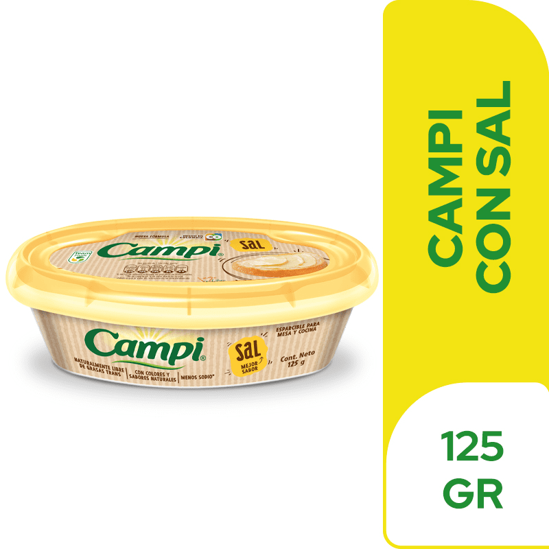 Margarina Campi Mini Con Sal 125 G