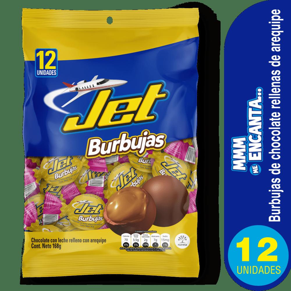 Chocolatina Jet Burbujas X 12 Und Arequipe 168 G