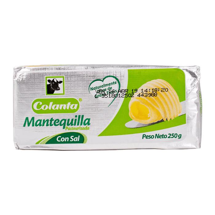 Mantequilla Colanta Con Sal 125 G